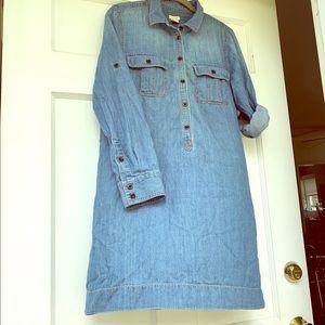 JCrew denim shirt dress